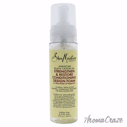 Jamaican Black Castor Oil Strengthen and Restore Conditioning Design Foam by Shea Moisture for Unisex - 7.5 oz Foam - Hair Treatment Products | Best Hair Styling Product | Hair Oil Treatment | Damage Hair Treatment | Hair Care Products | Hair Spray | Hair Volumizing Product | AromaCraze.com