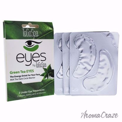 Green Tea Eyes Treatment by To Go Spa for Unisex - 3 Pair Ey