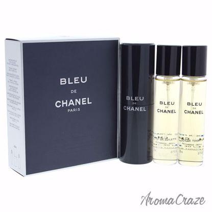 Bleu De Chanel by Chanel for Men - 3 x 0.7 oz EDT (Refills T