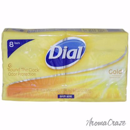 Gold Antibacterial Deodorant Soap by Dial for Unisex - 8 x 4
