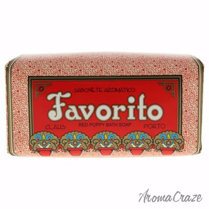 Favorito Red Poppy Bath Soap by Claus Porto for Unisex - 5.3