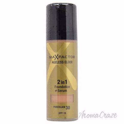 Ageless Elixir 2in1 Foundation + Serum SPF 15 - # 30 Porcelain by Max Factor for Women - 30 ml Foundation + Serum - Face Makeup Products   Face Cosmetics   Face Makeup Kit   Face Foundation Makeup   Top Brand Face Makeup   Best Makeup Brands   Buy Makeup Products Online   AromaCraze.com