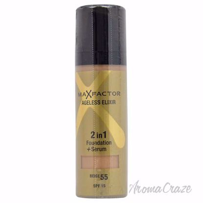 Ageless Elixir 2in1 Foundation + Serum SPF 15 - # 55 Beige by Max Factor for Women - 30 ml Foundation + Serum - Face Makeup Products   Face Cosmetics   Face Makeup Kit   Face Foundation Makeup   Top Brand Face Makeup   Best Makeup Brands   Buy Makeup Products Online   AromaCraze.com