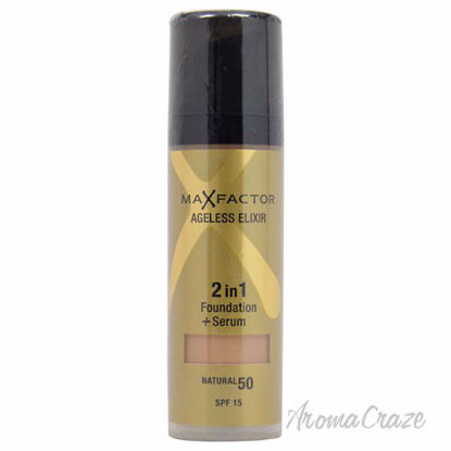 Ageless Elixir 2in1 Foundation + Serum SPF 15 - # 50 Natural by Max Factor for Women - 30 ml Foundation + Serum - Face Makeup Products   Face Cosmetics   Face Makeup Kit   Face Foundation Makeup   Top Brand Face Makeup   Best Makeup Brands   Buy Makeup Products Online   AromaCraze.com