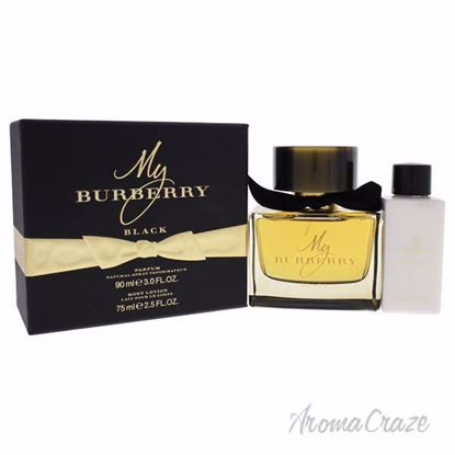 My Burberry Black by Burberry for Women - 2 Pc Gift Set 3oz Parfum Spray, 2.5oz Body Lotion