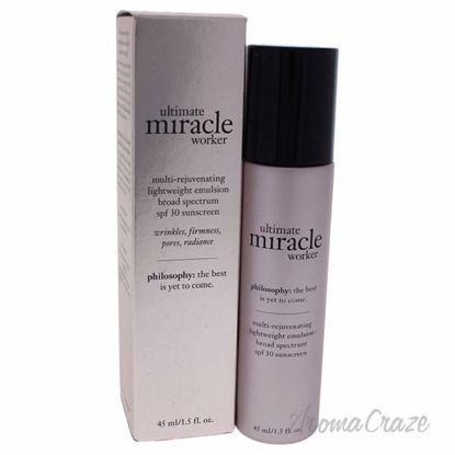 Ultimate Miracle Worker Multi-Rejuvenating Lightweight Emulsion SPF 30 by Philosophy for Unisex - 1.5 oz Emulsion - Hair Styling Products | Hair Styling Cream | Hair Spray | Hair Styling Products For Men | Hair Styling Products For Women | Hair Care Products | AromaCraze.com
