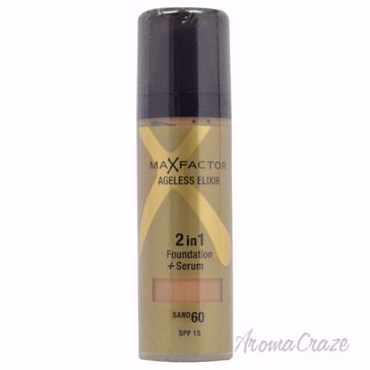 Ageless Elixir 2in1 Foundation + Serum SPF 15 - # 60 Sand by Max Factor for Women - 30 ml Foundation + Serum - Face Makeup Products   Face Cosmetics   Face Makeup Kit   Face Foundation Makeup   Top Brand Face Makeup   Best Makeup Brands   Buy Makeup Products Online   AromaCraze.com