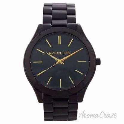 MK3221 Slim Runway Black-Tone Stainless Steel Bracelet Watch