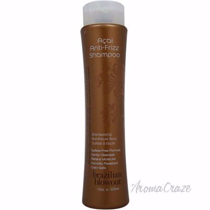 Acai Anti Frizz Shampoo by Brazilian Blowout for Unisex - 12 oz Shampoo - Hair Shampoo | Best Shampoo For Hair Growth | Shampoo and Conditioner For Damage Hair | Fizzy Hair Shampoo | Best Professional Shampoo | Top Brands Hair Care Products | AromaCraze.com