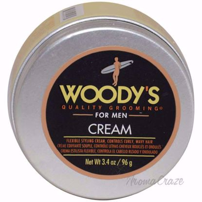 Flexible Styling Cream by Woodys for Men - 3.4 oz Styling Cr