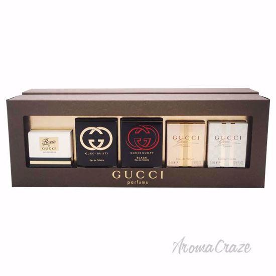 7fda8f446e46 Gucci Variety by Gucci for Women - 5 Pc Mini Gift Set 0.16oz Gucci Flora  EDP Splash, 0.16oz Gucci Guilty EDT Splash, 0.16oz Gucci Guilty Black EDT  Splash, ...