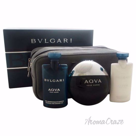 Bvlgari Aqva by Bvlgari for Men - 4 Pc Gift Set 3.4oz EDT Sp