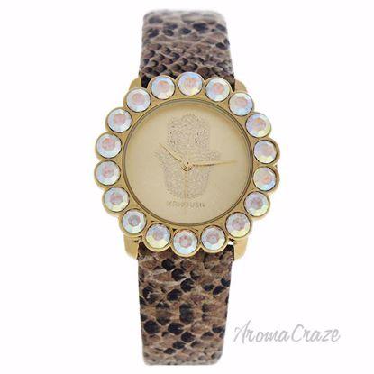 MSHSCGL Scarlett - Gold Crocodile Leather Strash Watch by Ma
