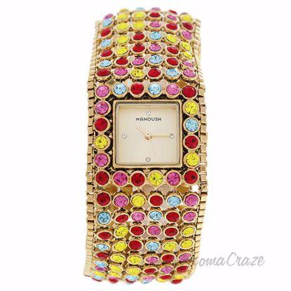 MSHMAR Marilyn - Gold/Multicolor Stainless Steel Bracelet Wa