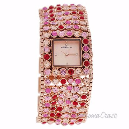 MSHMAP Marilyn - Rose Gold/Fushia Stainless Steel Bracelet W