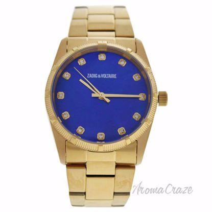 ZVF220 Blue Dial/Gold Stainless Steel Bracelet Watch by Zadi