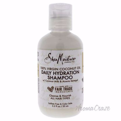 100 Percent Virgin Coconut Oil Daily Hydration Shampoo by Shea Moisture for Unisex - 3.2 oz Shampoo - Hair Shampoo | Best Shampoo For Hair Growth | Shampoo and Conditioner For Damage Hair | Fizzy Hair Shampoo | Best Professional Shampoo | Top Brands Hair Care Products | AromaCraze.com