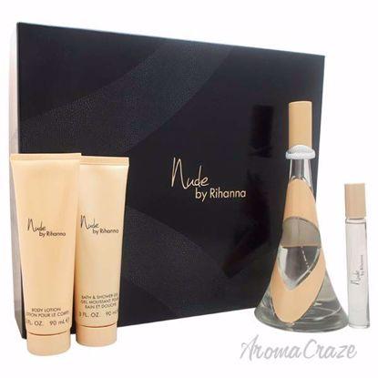 Nude by Rihanna for Women - 4 Pc Gift Set 3.4oz EDP Spray, 0