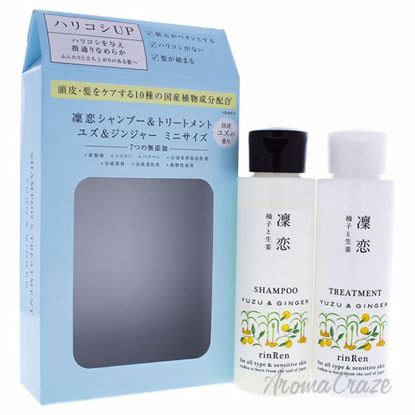 Yuzu and Ginger Duo by RinRen for Unisex - 2 Pc 3.4oz Shampo
