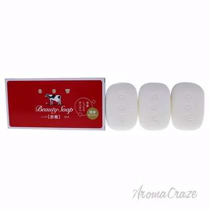 Beauty Soap Red by Cow Brand for Women - 3 x 3.5 oz Soap