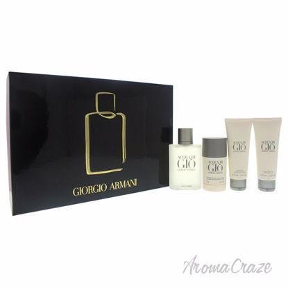Picture of Acqua Di Gio by Giorgio Armani for Men - 4 Pc Gift Set 3.4oz EDT Spray, 2.6oz Alcohol Free Deodorant Stick, 2.5oz All Over Body Shampoo, 2.5oz After Shave Balm