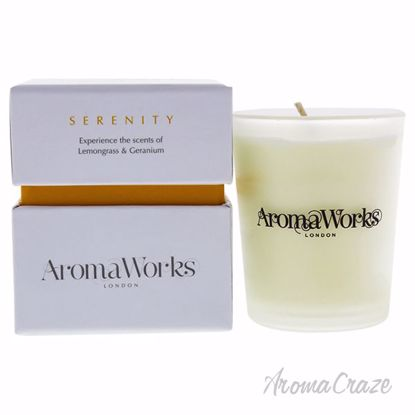 Serenity Candle Small by Aromaworks for Unisex - 3.4 oz Cand