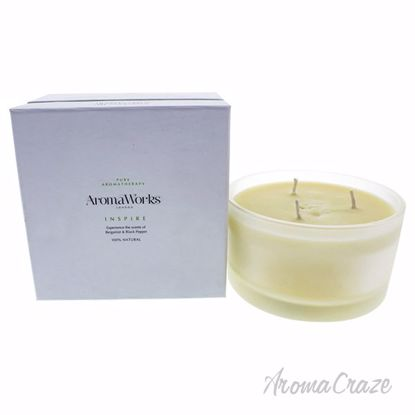 Inspire Candle 3 Wick Large by Aromaworks for Unisex - 1 Pc
