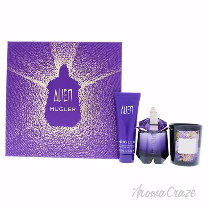 Picture of Alien by Thierry Mugler for Women - 3 Pc Gift Set 1.0oz EDP Spray, 1.7oz Body Lotion, 2.5oz Bougie Alien Candle