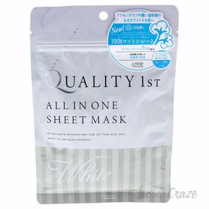 Quality 1st All in One Sheet Mask White by Quality First for