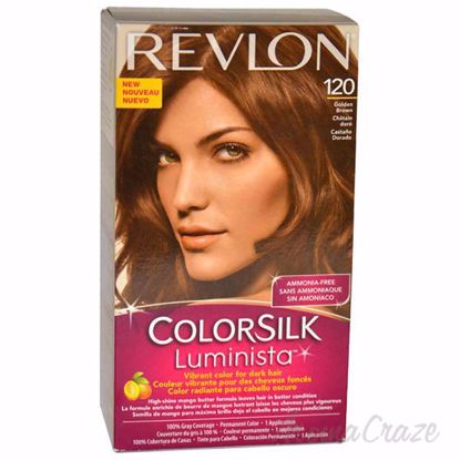 Picture of colorsilk Luminista #120 Golden Brown by Revlon for Women - 1 Application Hair Color