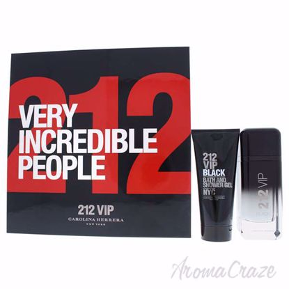 Picture of 212 Vip Black by Carolina Herrera for Men - 2 Pc Gift Set 3.4oz EDP Spray, 3.4oz Bath and Shower Gel