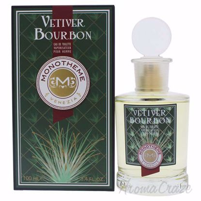 Vetiver Bourbon by Monotheme for Men - 3.4 oz EDT Spray