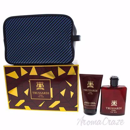Uomo The Red by Trussardi for Men - 3 Pc Gift Set 3.4oz EDT