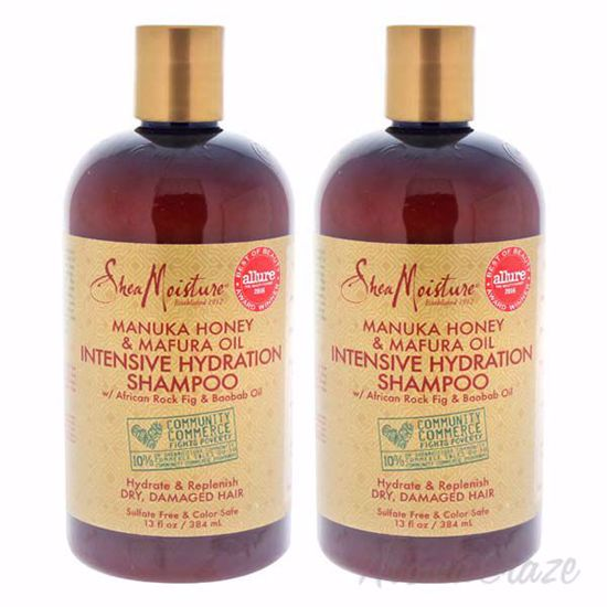 Picture of Manuka Honey and Mafura Oil Intensive Hydration Shampoo by Shea Moisture for Unisex - 13 oz Shampoo - Pack of 2