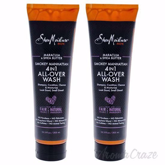 Picture of Maracuja & Shea Butter Smokey Manhattan 4-In-1 All Over Wash by Shea Moisture for Unisex - 10.3 oz Body Wash - Pack of 2