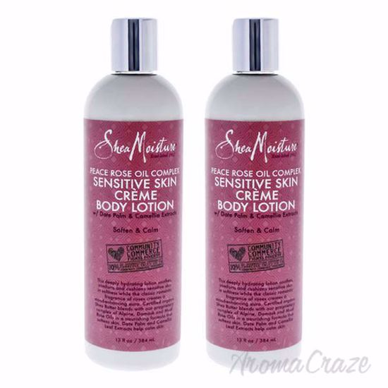 Picture of Peace Rose Oil Complex Sensitive Creme Body Lotion by Shea Moisture for Women - 13 oz Body Lotion - Pack of 2