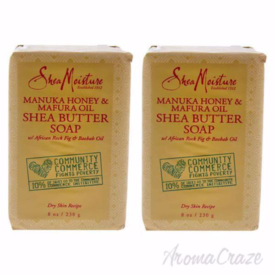 Picture of Manuka Honey & Mafura Oil Shea Butter Soap - Dry Skin by Shea Moisture for Unisex - 8 oz Bar Soap - Pack of 2