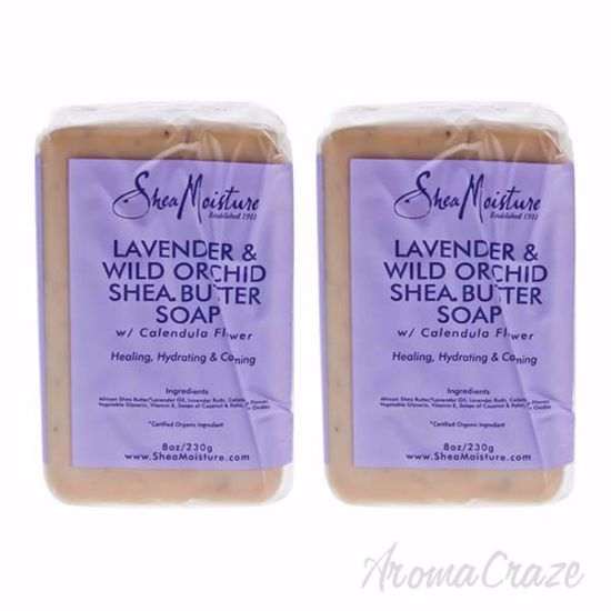 Picture of Lavender & Wild Orchid Shea Butter Soap by Shea Moisture for Unisex - 8 oz Bar Soap - Pack of 2