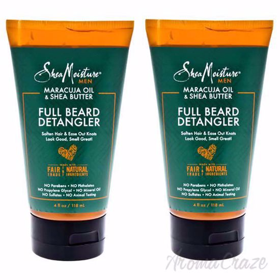 Picture of Maracuja Oil and Shea Butter Beard Detangler Soften Hair and Ease Out Knots by Shea Moisture for Men - Pack of 2