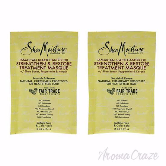 Picture of Jamaican Black Castor Oil Strengthen-Grow and Restore Treatment Masque by Shea Moisture for Unisex - - Pack of 2