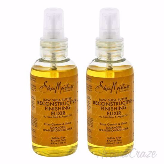 Picture of Raw Shea Butter Reconstructive Finishing Elixir by Shea Moisture for Unisex - 4 oz Spray - Pack of 2