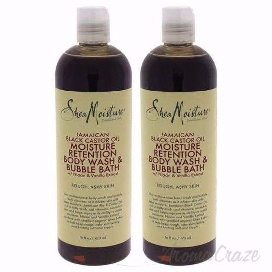 Picture of Jamaican Black Castor Oil Moisture Retention Body Wash & Bubble Bath by Shea Moisture for Unisex - 16 oz Body Wash - Pack of 2