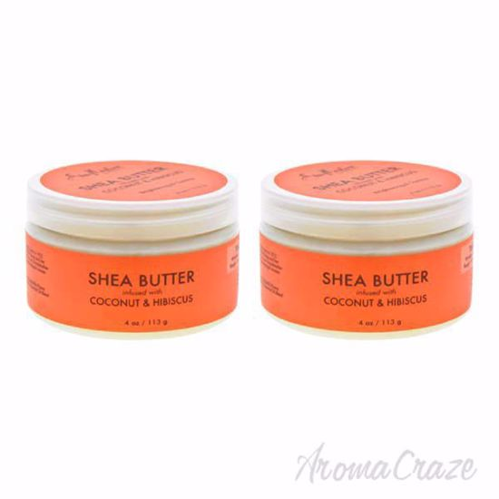 Picture of Shea Butter infused with Coconut and Hibiscus by Shea Moisture for Unisex - 4 oz Moisturizer - Pack of 2