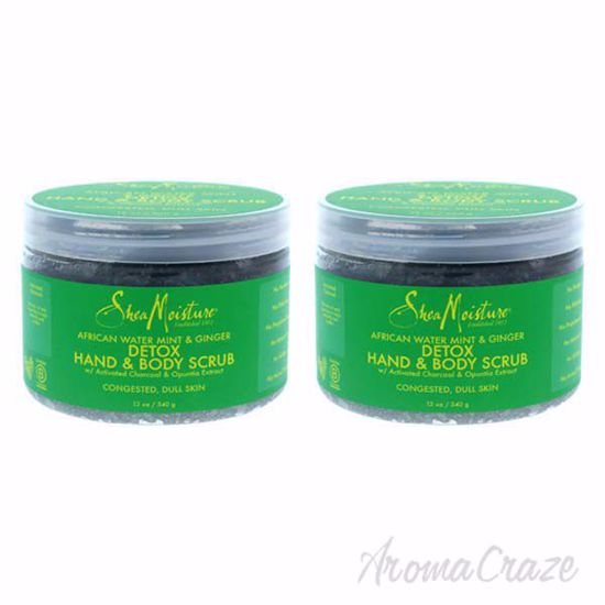 Picture of African Water Mint and Ginger Detox Hand and Body Scrub by Shea Moisture for Unisex - 12 oz Scrub - Pack of 2