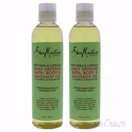 Picture of Raw Shea & Cupuacu Daily Defense Bath-Body & Massage Oil by Shea Moisture for Unisex - 8 oz Oil - Pack of 2