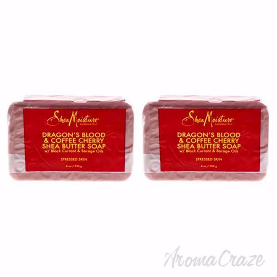 Picture of Dragons Blood & Coffee Cherry Shea Butter Soap - Stressed Skin by Shea Moisture for Unisex - 8 oz Bar Soap - Pack of 2