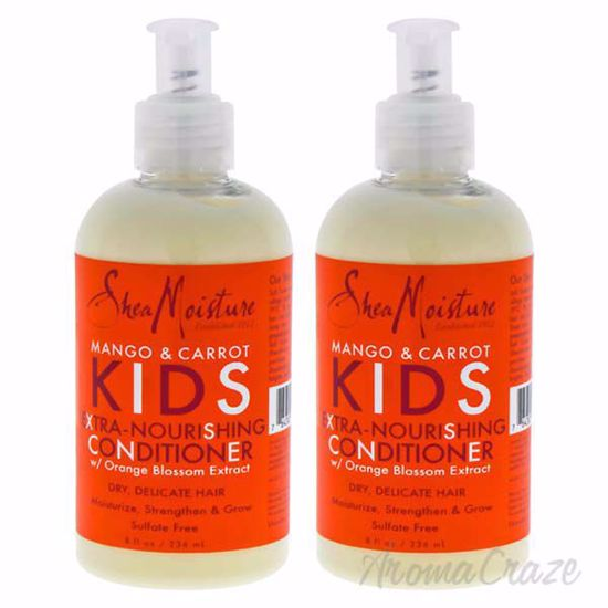 Picture of Mango & Carrot Kids Extra-Nourishing Conditioner by Shea Moisture for Kids - 8 oz Conditioner - Pack of 2