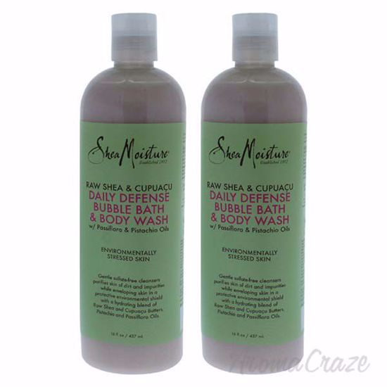 Picture of Raw Shea & Cupuacu Daily Defense Body Wash by Shea Moisture for Unisex - 16 oz Body Wash - Pack of 2