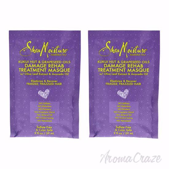 Picture of Kukui Nut and Grapeseed Oils Damage Rehab Treatment Masque by Shea Moisture for Unisex - 2 oz Masque - Pack of 2