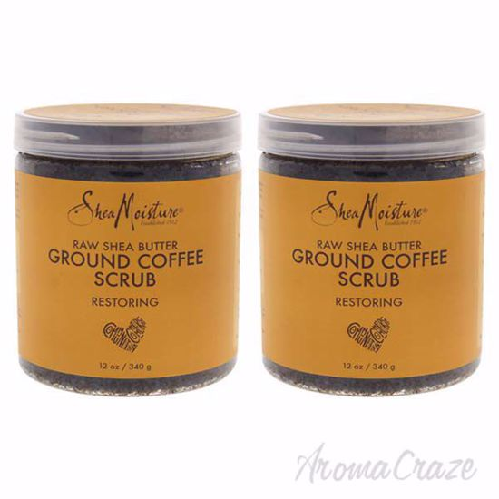Picture of Raw Shea Butter Ground Coffee Scrub by Shea Moisture for Unisex - 12 oz Scrub - Pack of 2